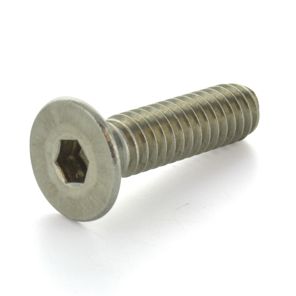 #10-24 x 1 Inch Coarse 18-8 Stainless Steel Flat Head Socket Cap Screw