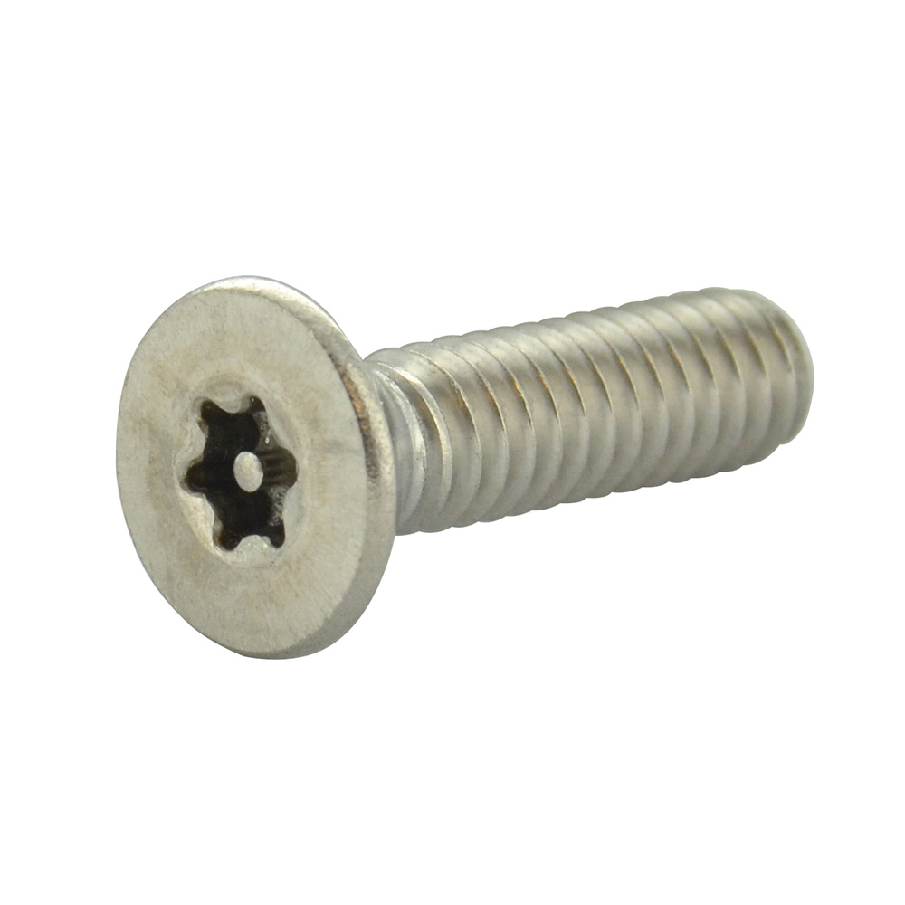 #10-24 x 1 Inch Stainless Steel Torx Pin Flat Head Tamper Resistant Machine Screw