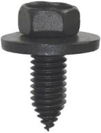 3/8-16 x 1 Inch Coarse Black Steel Ca Point Hex Head Body Bolt With Free Spinning Washer