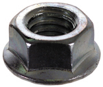 #10-24 Serrated Flange Nut Spinlock Grade 2 Zinc Coarse