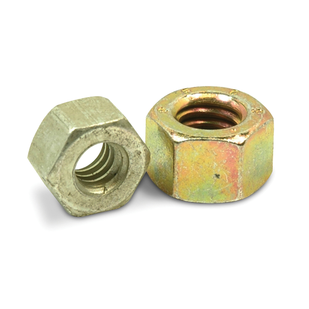 1-1/2-6 Coarse Cadmium Yellow Zinc and Wax Grade L9 Finished Hex Nut