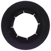 1/2 Inch Black Phosphate Metal Universal Push On Retainer