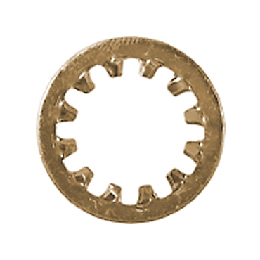 #10 Plain Phosphorus Bronze Internal Tooth Lock Washer