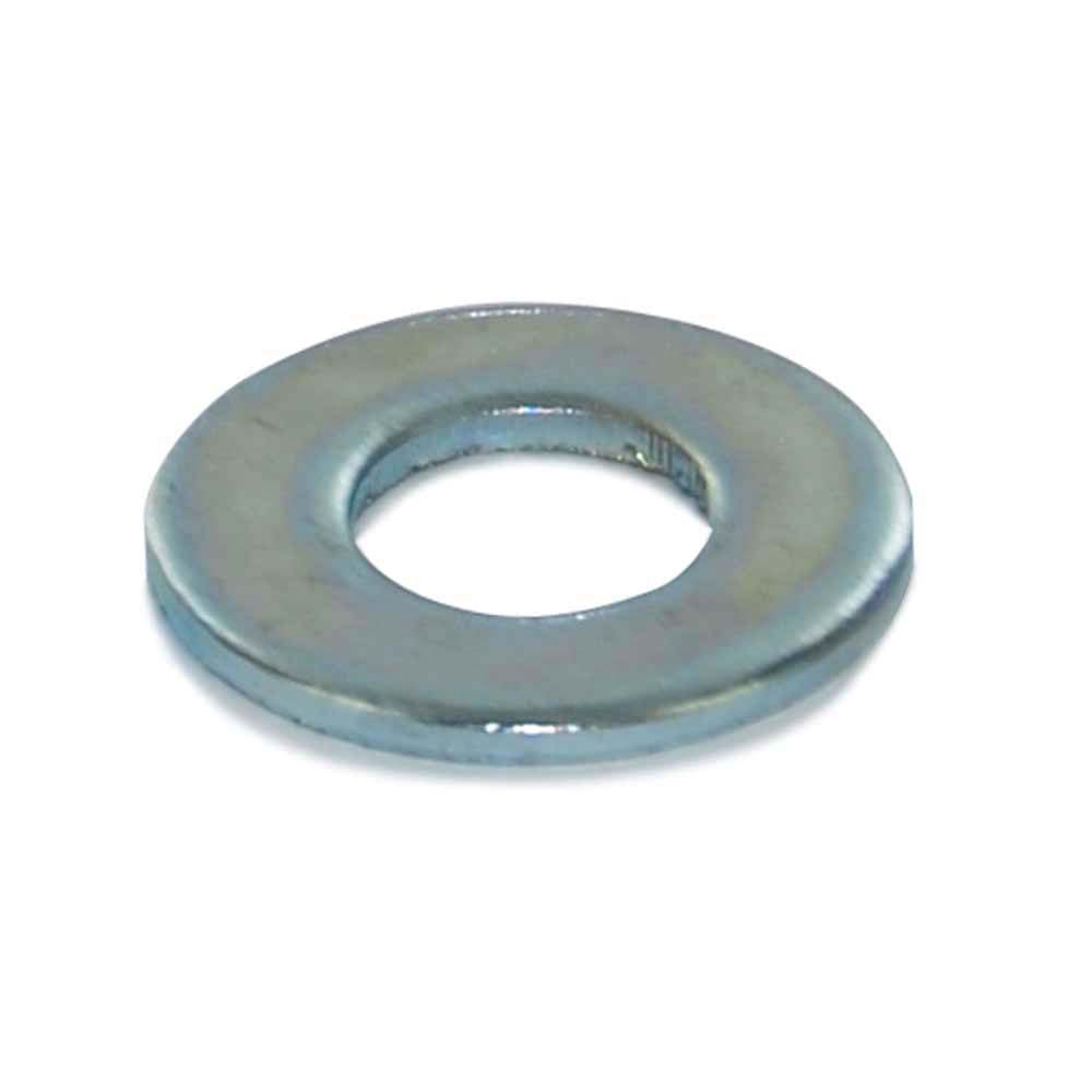 10 Gauge 1-1/8 Inch x 1-3/4 Inch Astm F844 Clear Zinc Carbon Steel Narrow Rim Machine Bushing