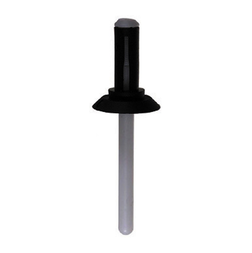 1/4 Inch 1/32 - 3/16 Inch Grip Black/White Nylon Blind Rivet
