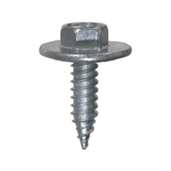 #14-14 x 7/8 Inch Zinc Plated Serrated Hex Washer Head Body Bolt