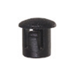 0.25 Inch x 0.312 Inch Black Heat Stabilized Nylon Flush Locking Hole Plug