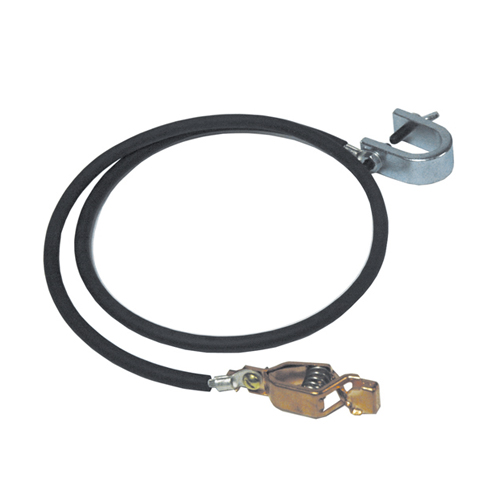 10 Foot Ground Cable With Two 50 Amp Clamps