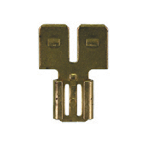 0.250 Inch x 0.032 Inch Tab Brass Non-Insulated Double Male-Female Disconnect Adapter