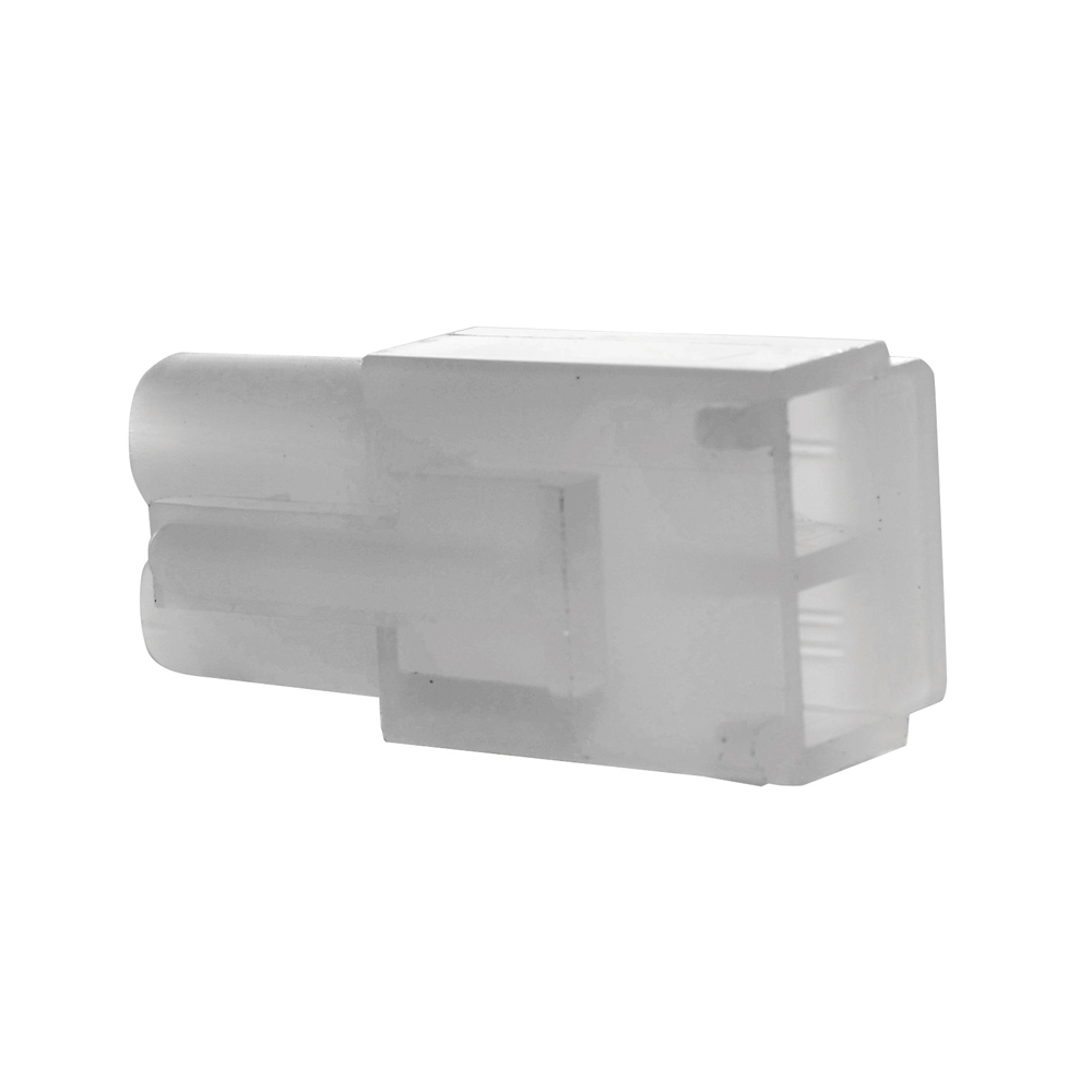 0.093 Inch Natural Nylon 2 Cavity Receptacle