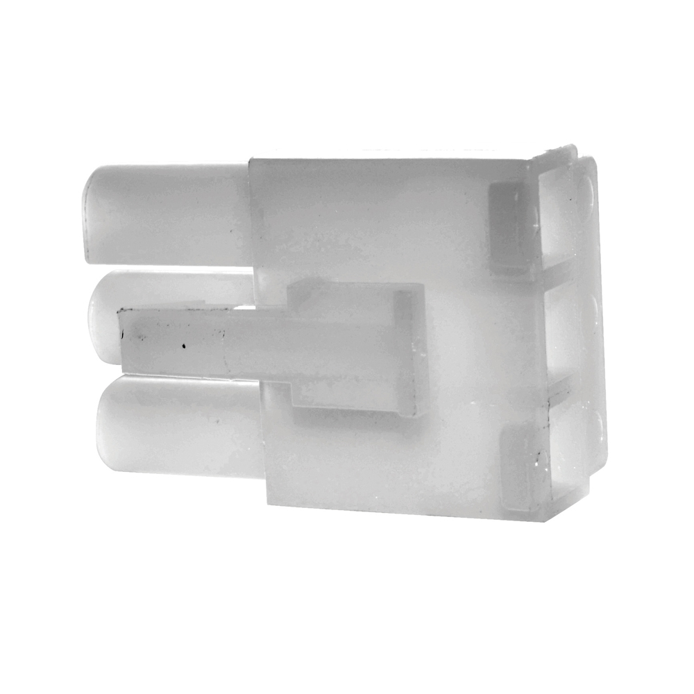 0.093 Inch Natural Nylon 3 Cavity Receptacle