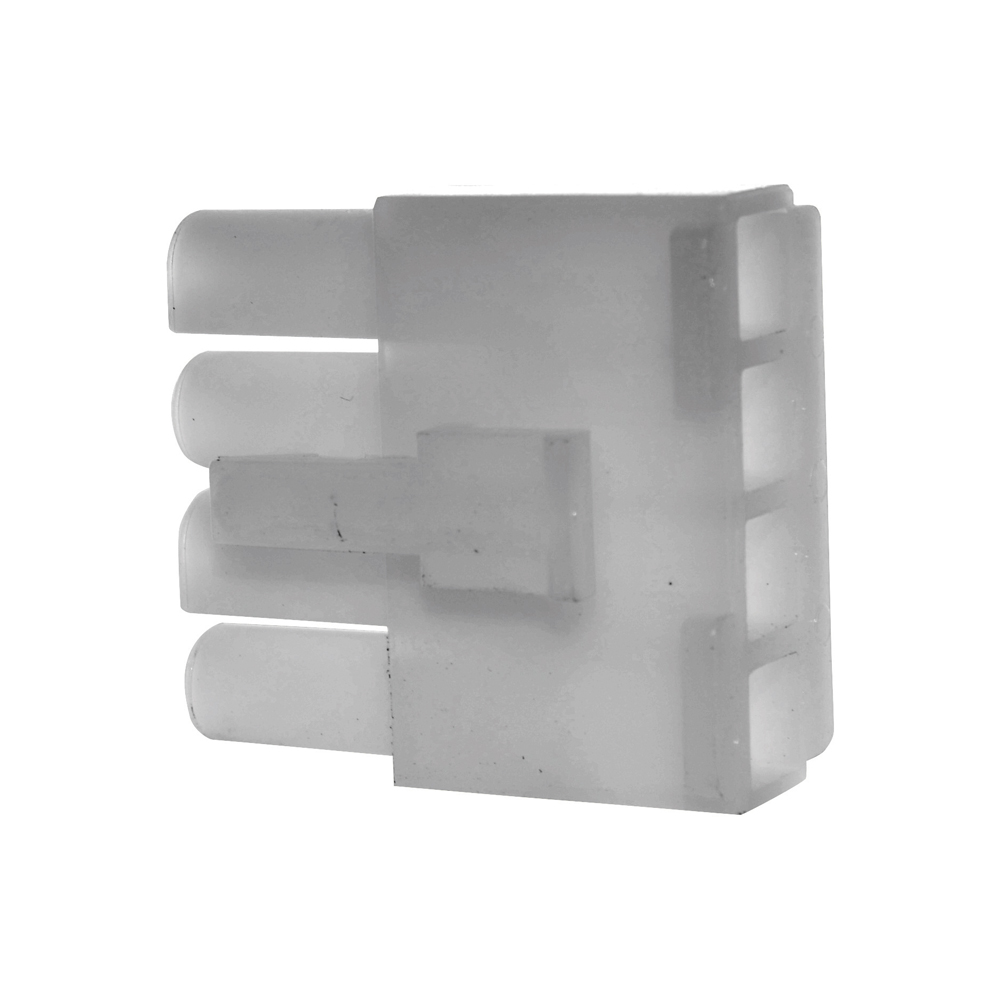 0.093 Inch Natural Nylon 4 Cavity Receptacle