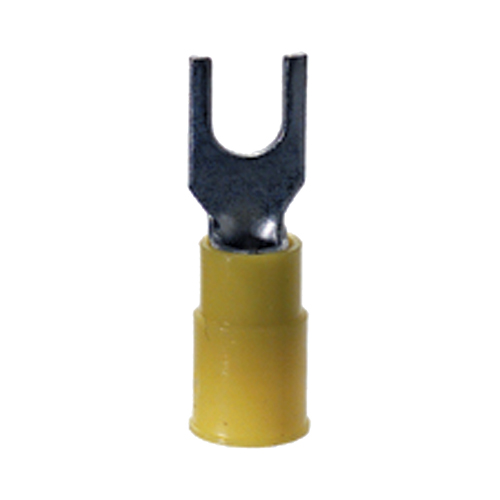 12-10 Gauge Block Spade (Fork) Terminal #10 Stud PVC Insulated Yellow