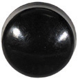 #10 Black Polypropylene Screw Cover