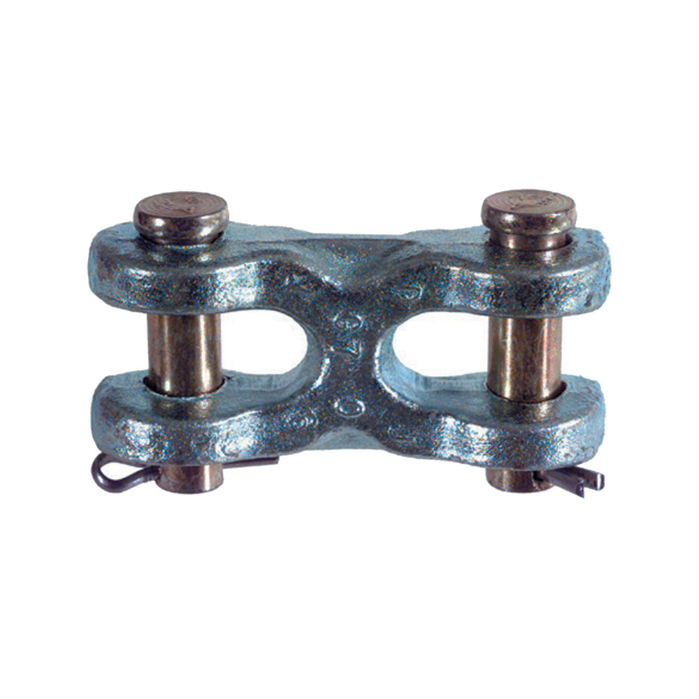 1/4 - 5/16 Inch 4700 Lb Grade 43 Zinc Plated Heat Treated Forged Carbon Steel Body Forged Alloy Steel Pin Twin Clevis Link