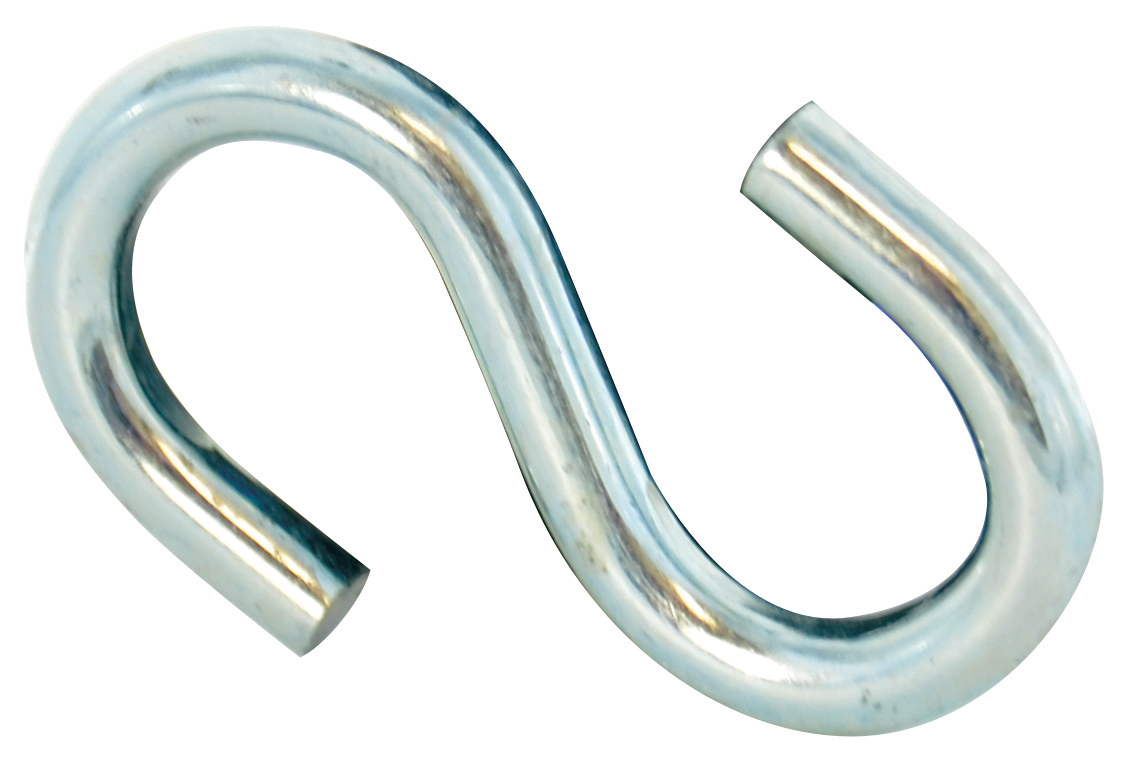 0.105 Inch x 1-3/32 Inch Zinc Coated S Hook
