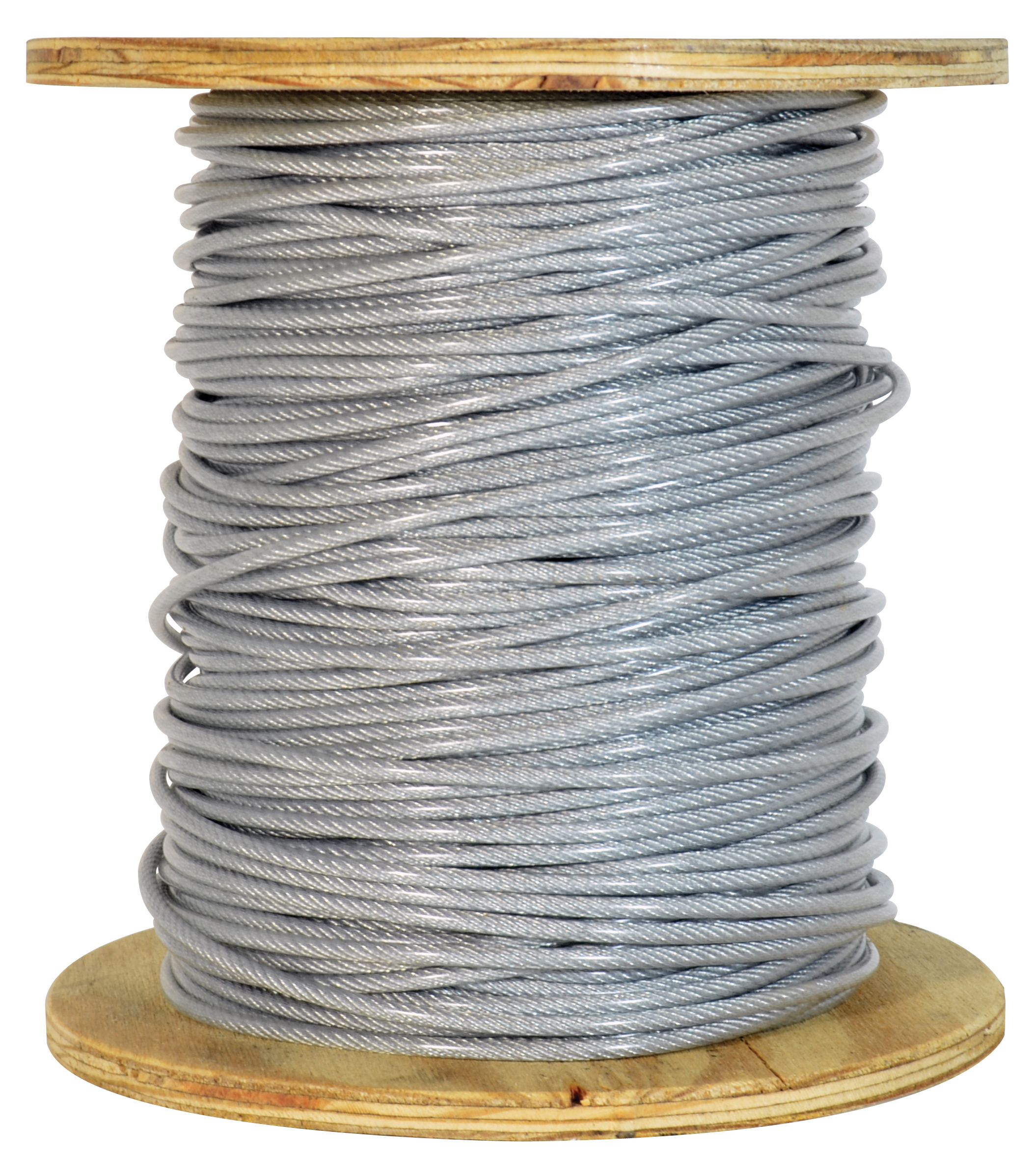 1/4 Inch x 250 ft 7X19 Strands 7000 Lb Clear Pvc Coated High Carbon Steel Galvanized Aircraft Cable