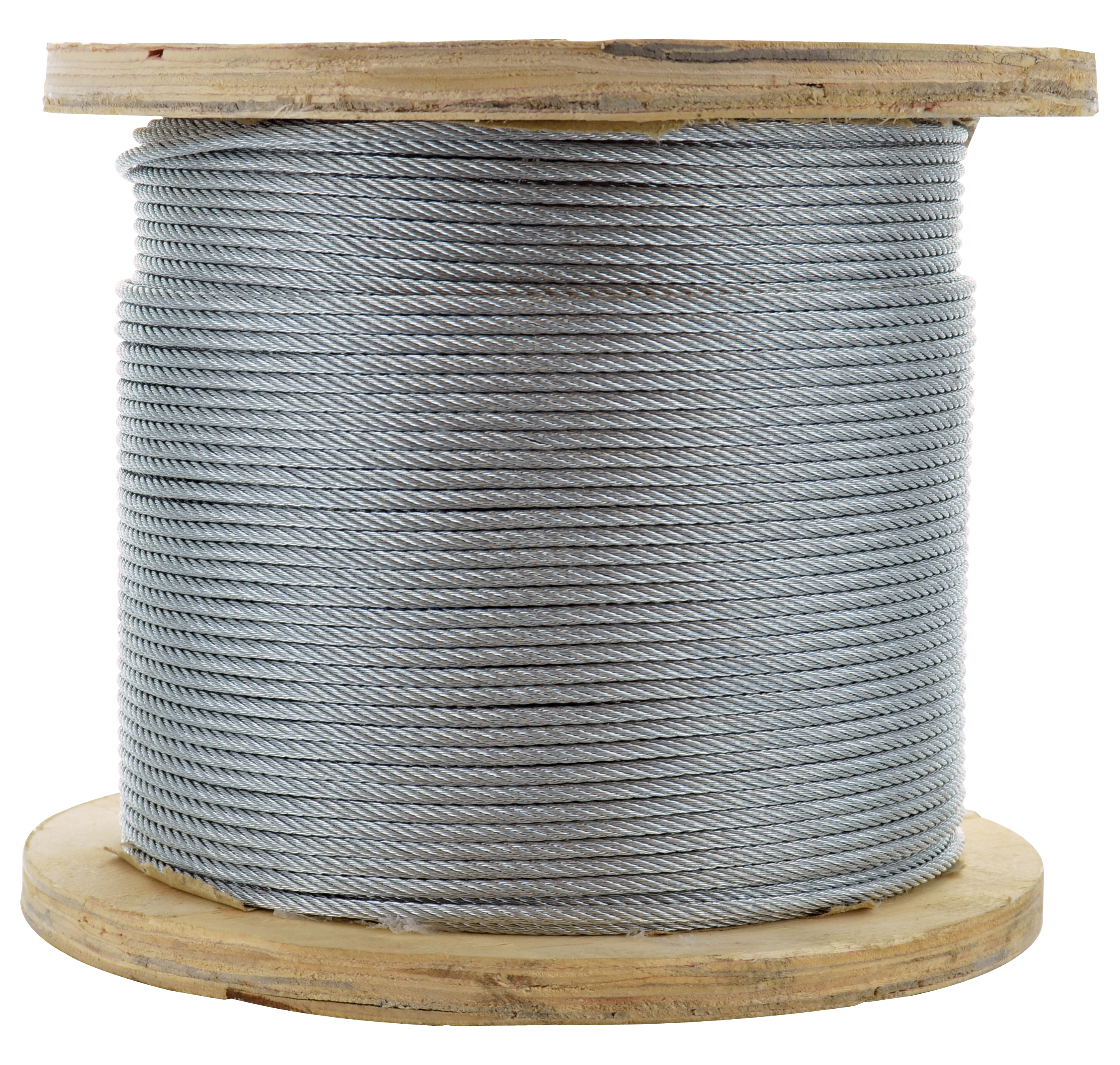 1/16 Inch x 250 ft 7X7 Strands 480 Lb Clear Vinyl Coated High Carbon Steel Galvanized Aircraft Cable