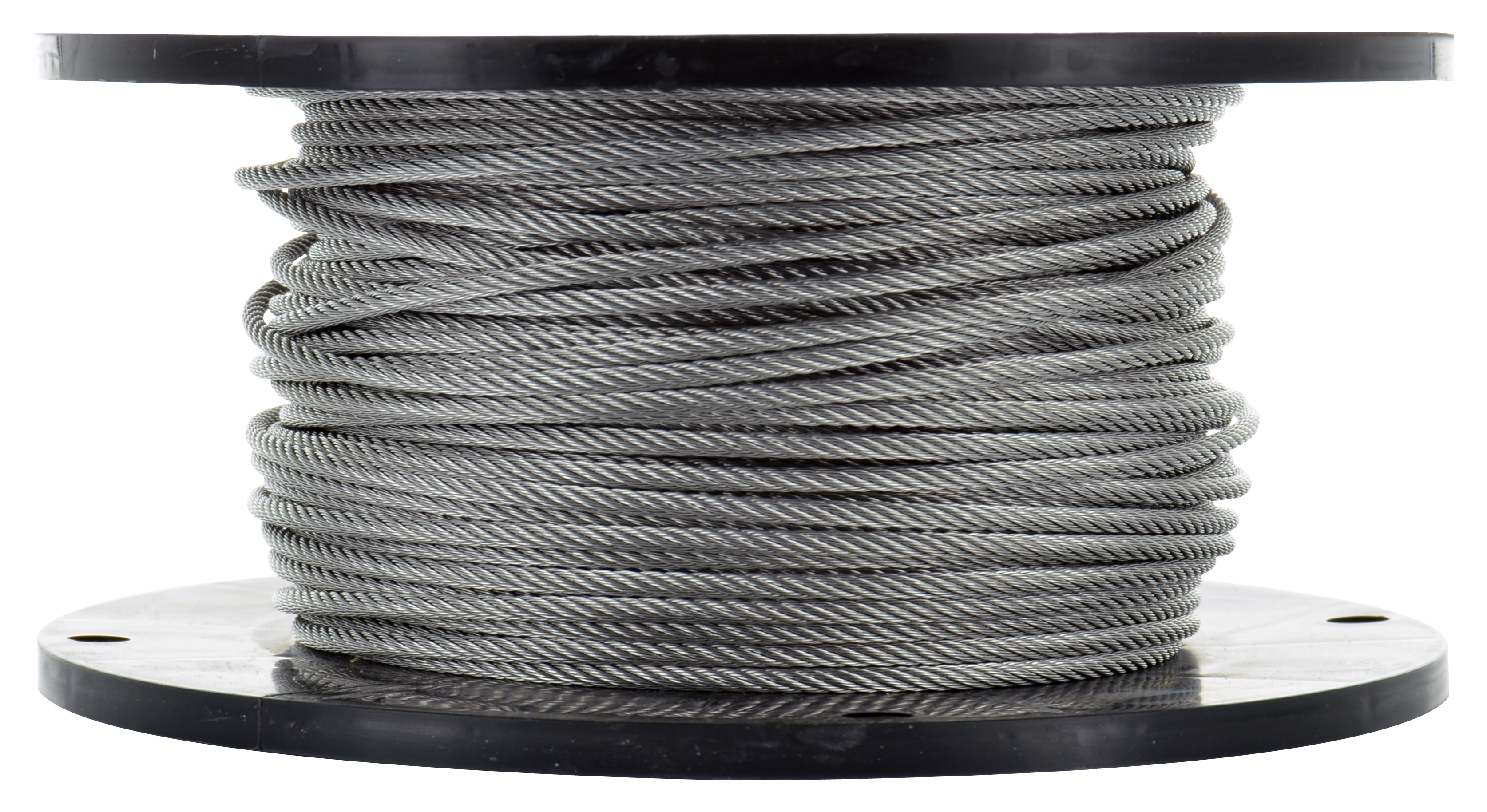 1/4 Inch x 250 ft 7X7 Strands 7000 Lb 304 Stainless Steel Uncoated Galvanized Aircraft Cable