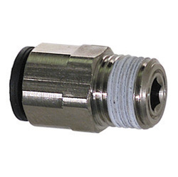 1/2 Inch x 1/2 Inch Mpt x Compression Nickel Plated Brass Tube Male Connector