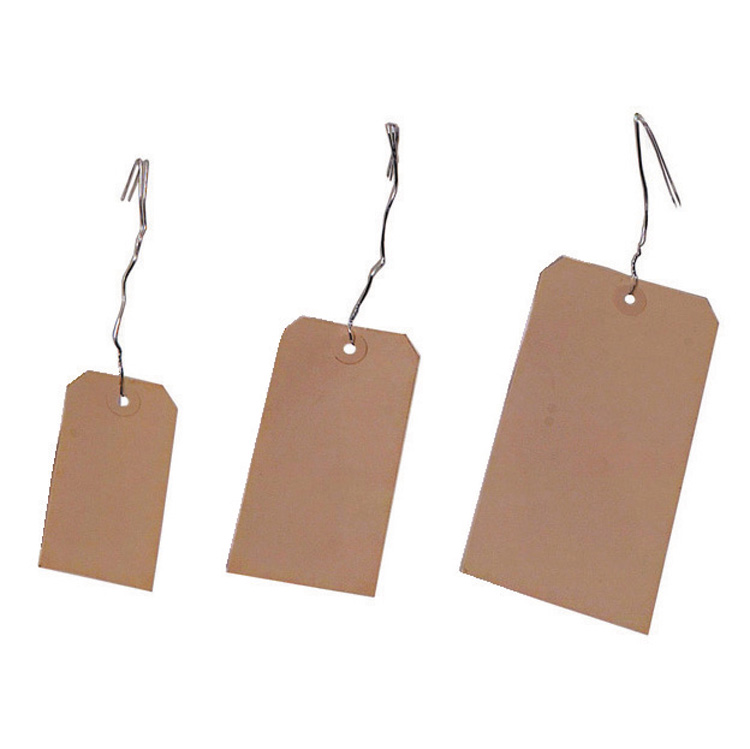 "2-3/8"" x 4-3/4"" Manilla Tag Stock #5 With Wire"