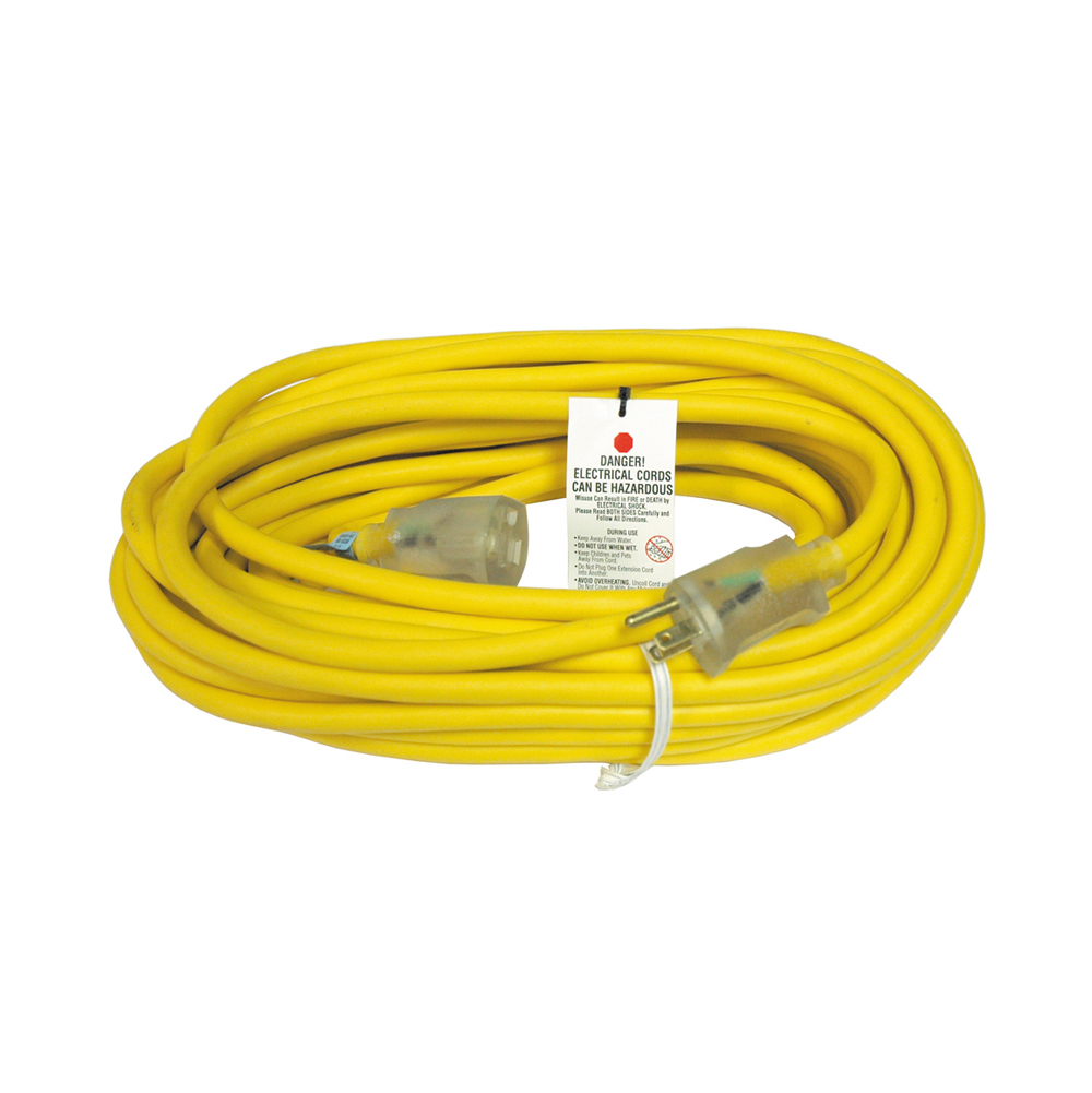 100  Foot Coleman 12/3 Wire Cable Polar / Solar Plus Extension Cord With Id Light