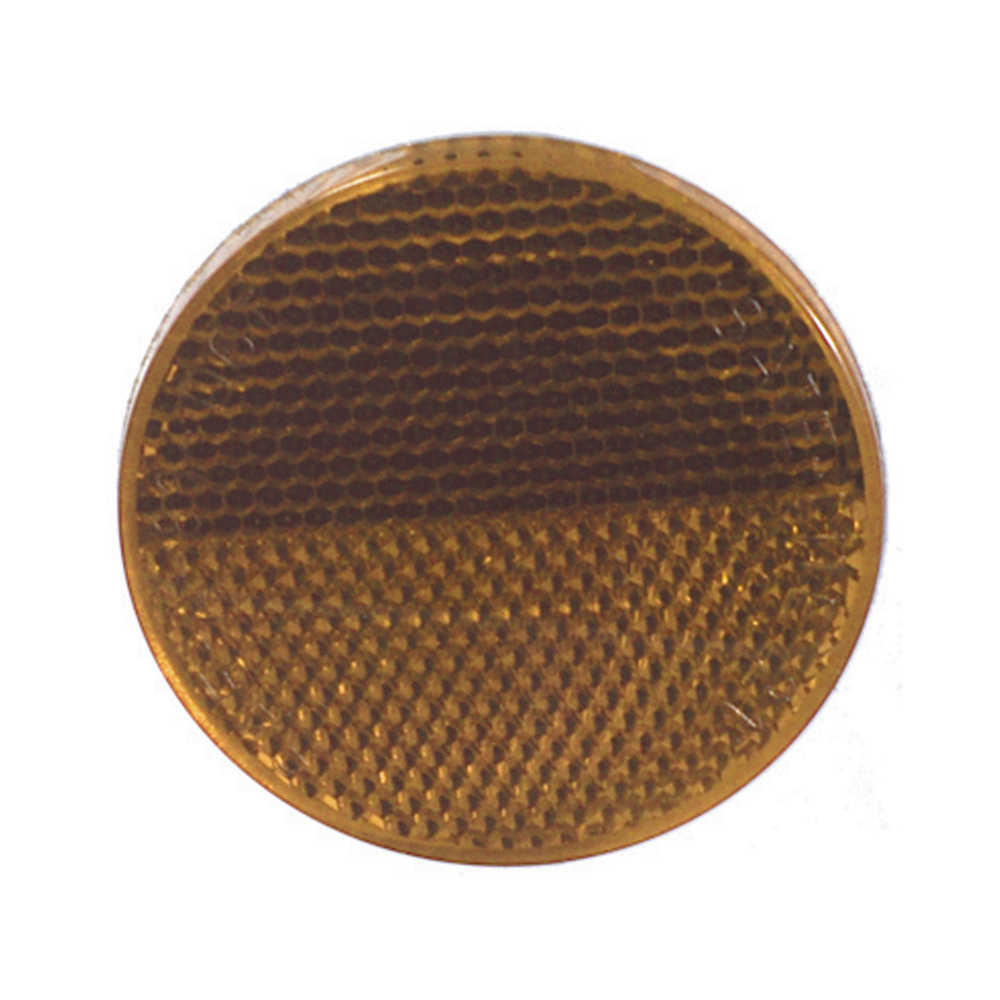 2-3/8 Inch Round Quick Mount Reflector Amber