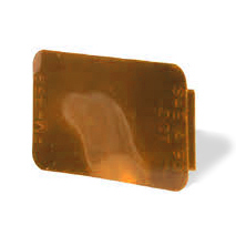 2-3/4 Inch x 1-3/4 Inch Spitfire Wide Angle Rectangular Stick On Reflector Amber