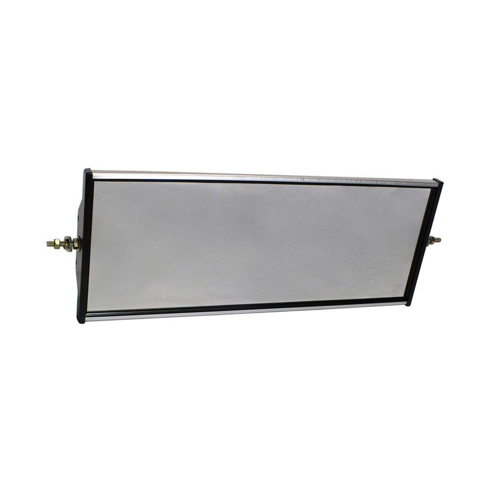 16 Inch x 6-1/2 Inch Rectangular Polycarbonate Ends Rear View Economy Mirror