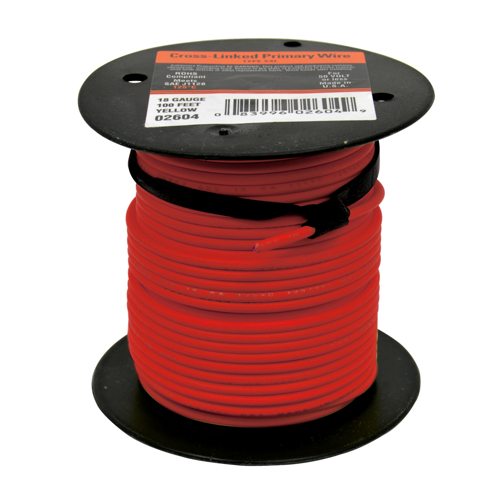 10 AWG Cross Link Primary Wire 100 Foot Roll Red