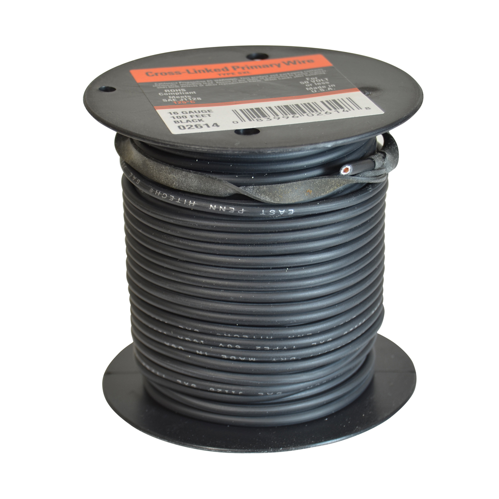 10 AWG Cross Link Primary Wire 100 Foot Roll Black