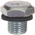 1/2-20 x 3/4 Inch Bright Zinc Plated Steel Oil Drain Plug With Washer