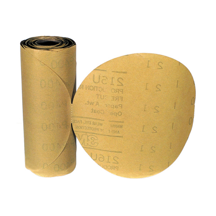 3M 6 Inch Stikit Gold Abrasive Disc Grade 80A Roll of 75