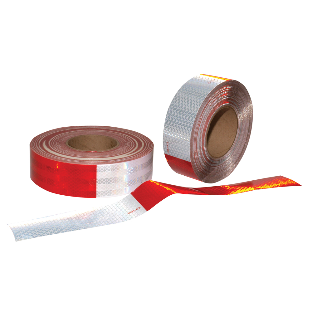 2 Inch x 150 Foot 3M Reflexite Conspicuity Reflective Tape Alternating 11 Inch Red / 7 Inch White