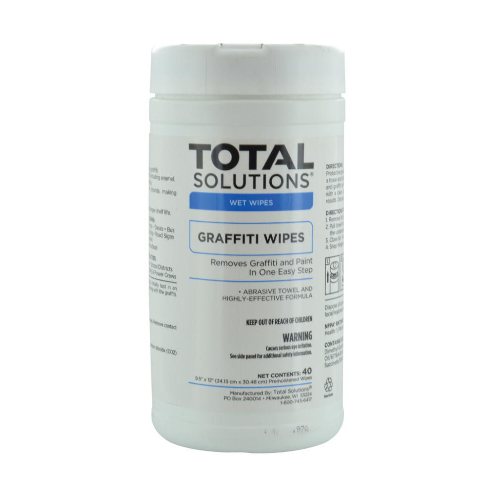 Total Solutions Graffiti Wipes Pre-Moistened Towels - 40 Count