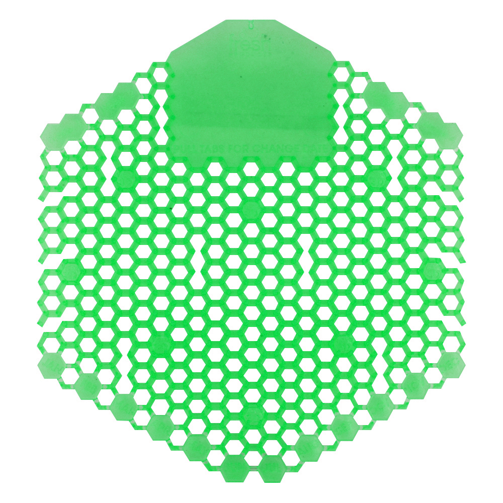 Fresh Products Wave 3D Urinal Screen - Herbal Mint - Light Green - Pack of 10