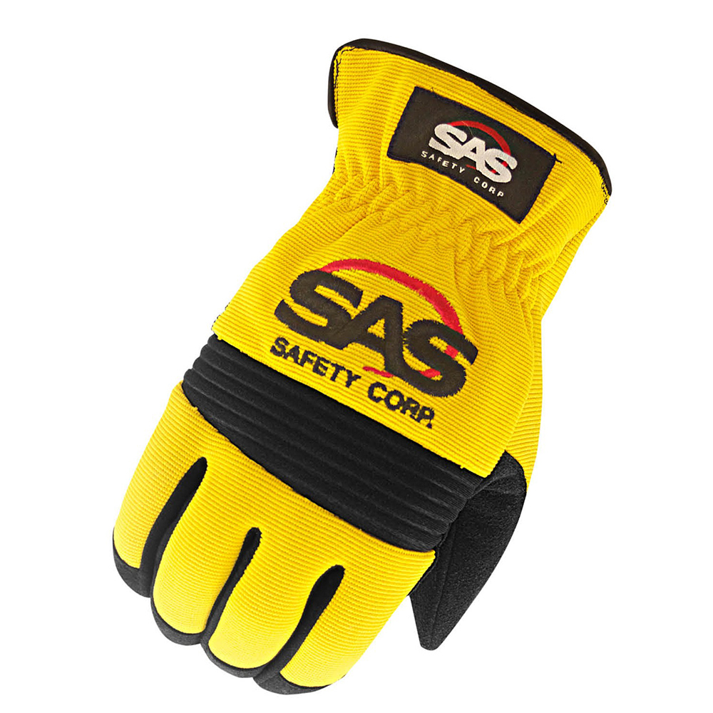 MxS Mechanics Slip On Glove Medium Yellow