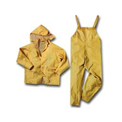 2X-Large Yellow Pvc/Polyester 3 Piece Rainsuit