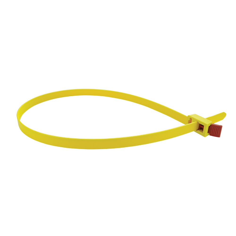 1/2 Inch x 29-1/2 Inch Releaseable Cable Tie - Yellow