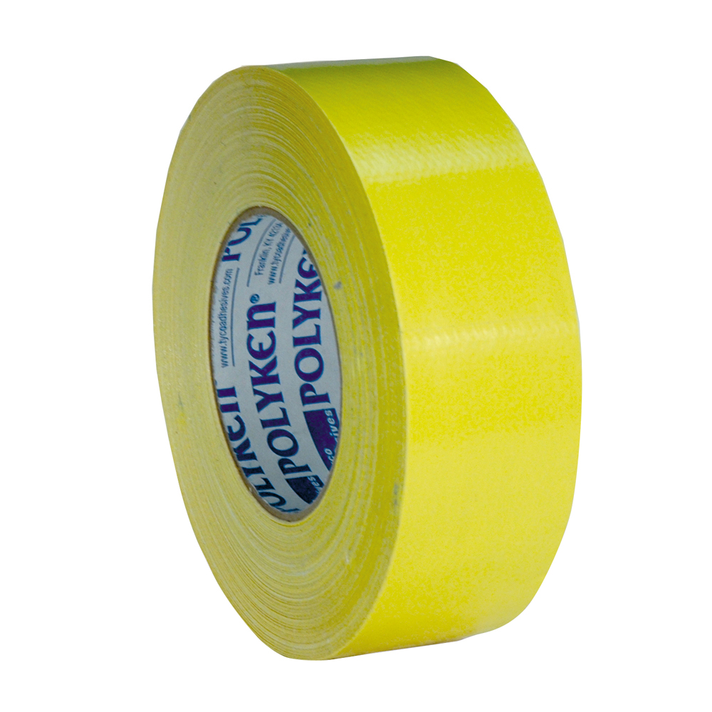 2 Inch x 180 Foot Black Duct Tape 10Mil Yellow