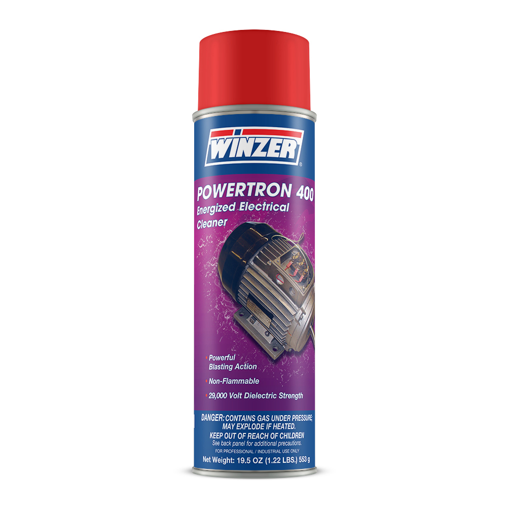 Winzer Powertron 400 Industrial Strength Energized Electrical Cleaner - 19 oz