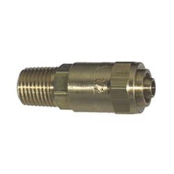 1/2 x 7/8 Reusable Hose Ends Male Pipe Rigid Brass