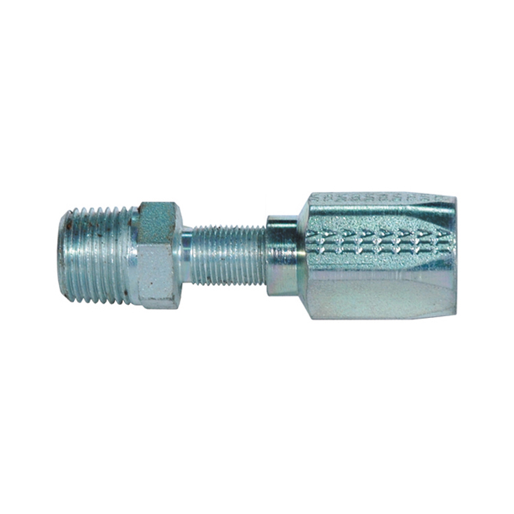 1/2 Inch x 1/2 Inch Male Pipe (NPTF - 30 Degree Cone Seat) Tuffcoat G34 Series Field Attachable Coupling