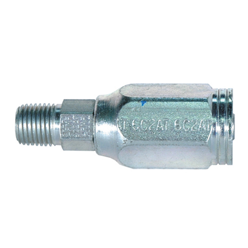 1/4 Inch x 1/4 Inch Male Pipe (NPTF - 30 Degree Cone Seat) Tuffcoat G28 Series Field Attachable Coupling