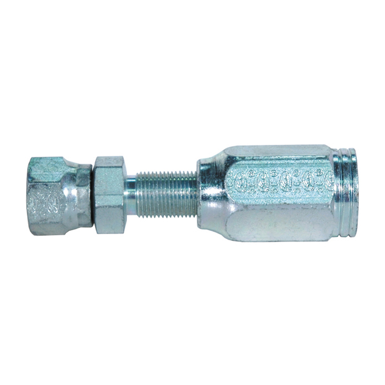 #12 x 1/2 Inch x 12 mm Female DIN 24 Degree Cone Swivel - Heavy Series with O-Ring Tuffcoat Lead Free MegaCrimp Coupling