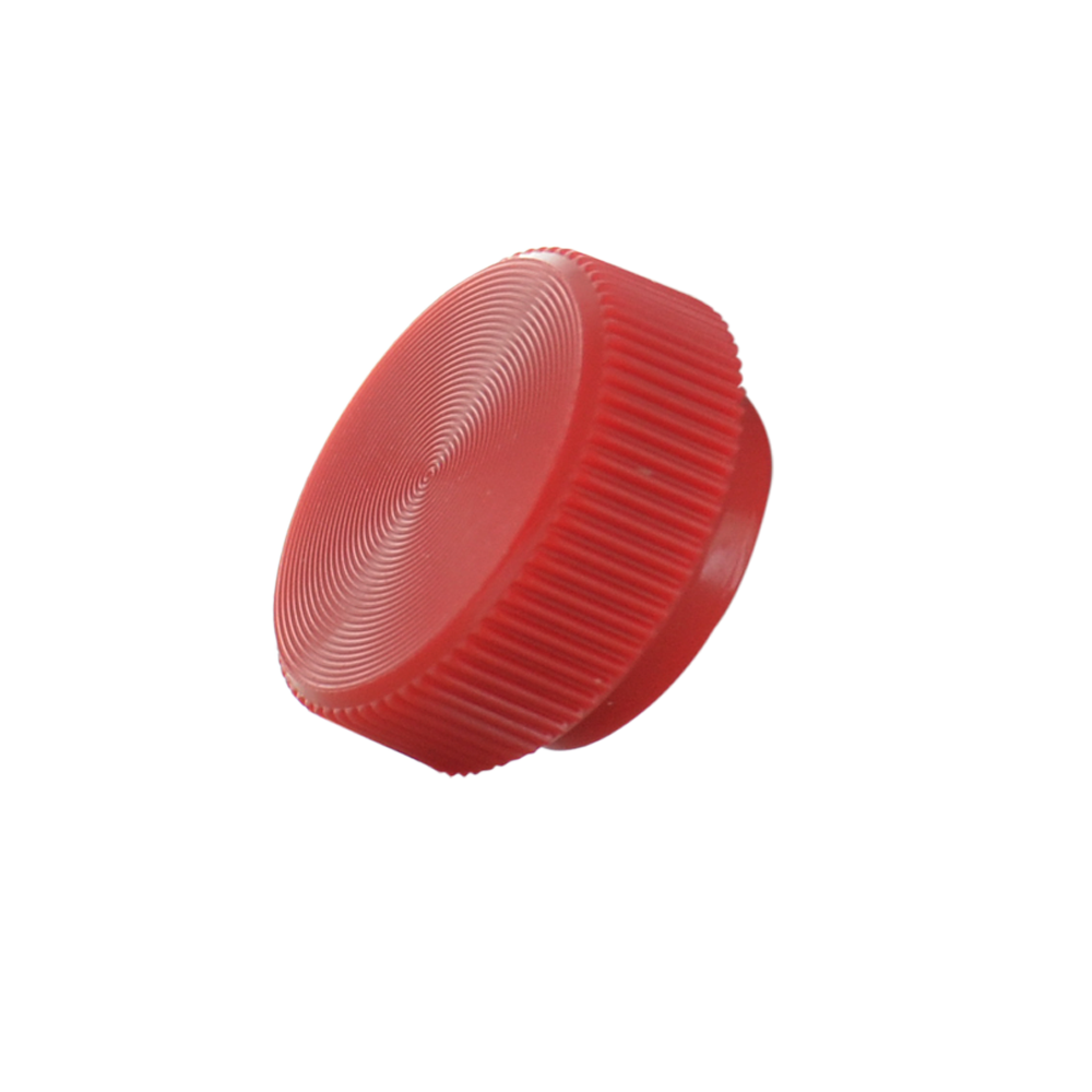 #10 Knurled Thumbscrew Knob - Red