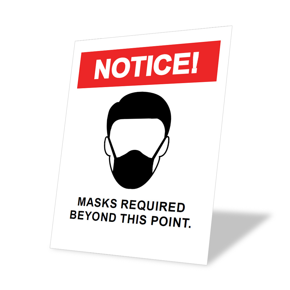 Generic Mandatory Mask Sticker