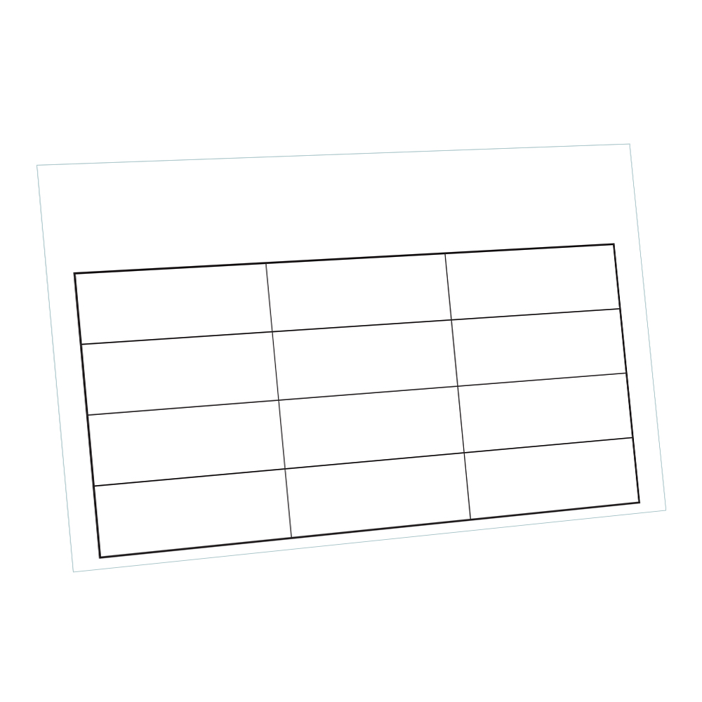 12 Compartment Blank Lid Chart Laminated