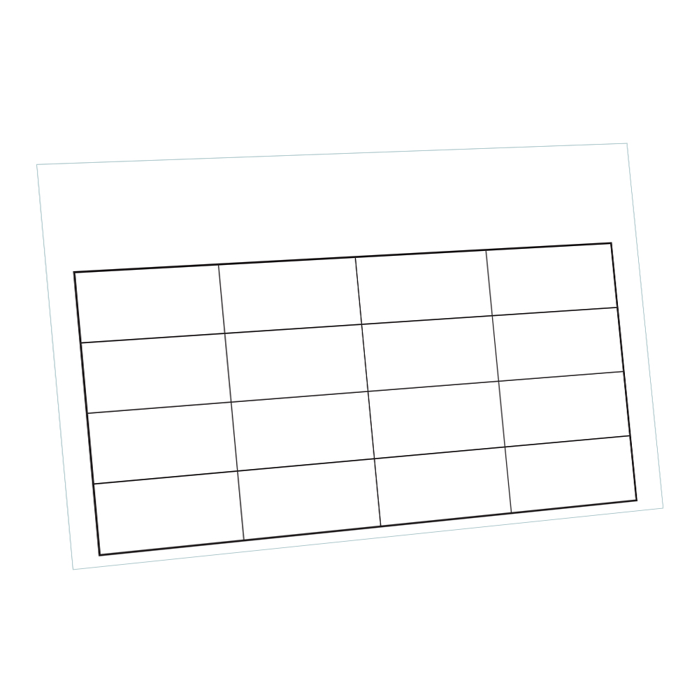 16 Compartment Blank Lid Chart