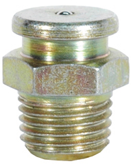 1/4-18 Zinc Yellow Steel Straight Button Head Heritage Grease Fitting